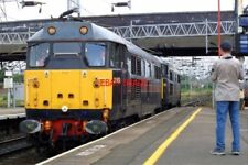 PHOTO  CLASS 31 DIESEL EMU 31459  CERBERUS    31128  CHARYBDIS  AT STAFFORD ON 1