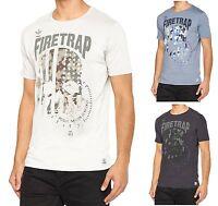 Firetrap Casual New Mens Summer Logo Print Cotton T-Shirt Anacost American Top