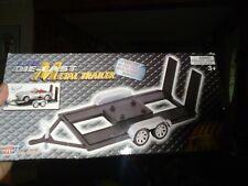 MOTOR MAX 1:24 SCALE COLLECTOR'S EDITION DIECAST METAL CAR HAULER TRAILER NIB