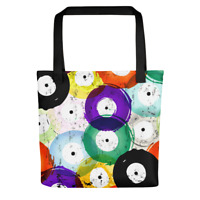 Colored Vinyl Record Tote Bag Cute Totes Music Records Bags