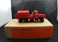 METZ  n° P21 Kaiser Jeep camion pompier Marseille Kit monté sur base Solido 1/50