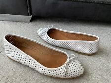 HOBBS white leather ballet flats shoes, EUR size 38