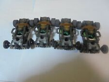 Aurora/AFX lot of 4 Non-Magnatraction Running Chassis W/Front Weights