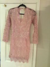 Dusty Pink Lacey Bodycon Dress By Shein Size 10. A Beautiful Satin Pink Band