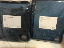 West Elm Two (2) Luster Velvet Curtains 48x84 Regal Blue NEW!
