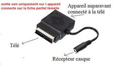 adaptateur peritel  casque sans fil sur fiche peritel femelle uniquement