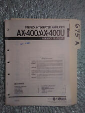Yamaha ax-400 u service manual original repair book stereo amp amplifier