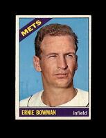 1966 Topps Baseball #302 Ernie Bowman (Mets) NM