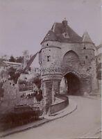 Porte d'Ardon Laon Picardie France Photo Amateur Vintage citrate 1900