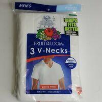 Vintage 1996 Fruit Of The Loom Men's White V-Neck T Shirt 3 Pack Small 34-36 New
