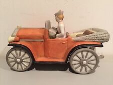 Vintage 1988 Enesco Imports Corp Lady In Her Car Extremely Rare One Of A Kind!