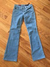 AG ~ Adriano Goldschmied ~ The Angel Women's Corduroy Pants Sky Light Blue 25 R