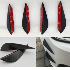4xUniversal Auto Tuning Stoßstange Spoiler Haiflosse Canards Lippe Carbon Look