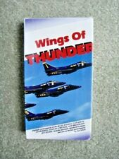 """Wiings of Thunderr"" VHS tape, 30 mins. Blue Angels,Snowbirds, Art Scholl, etc."