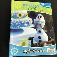 Disney Frozen Fever My Busy Books with 12 Action Figures NEW Anna Elsa Olaf Toys