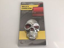Skull Emblem Chrome Abs Plastic 3-D Dome Stick On Decal Chevy,Ford,Dodge,Toyota