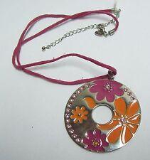 LIA SOPHIA Orange & Pink Flower Necklace
