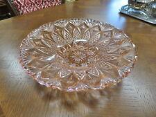 Large Pink Depression Glass Centre Piece Bowl. 33cms.