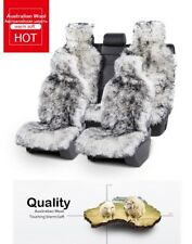 100% Natural Fur Car Seat Covers Australian Sheepskin Long Hair Four Seasons