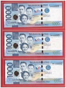 2018F PHILIPPINES 1000 Peso NGC Duterte Espeni  Solid NR 888888 NR 999999 NR1mil