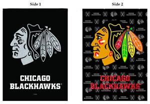 """Chicago Blackhawks Glitter Garden Flag MLB Baseball Sports 12.5"""" x 18"""""""