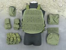 1/6 scale toy USMC 26th 1st Force Recon - OD Green Vest & Pouch Set