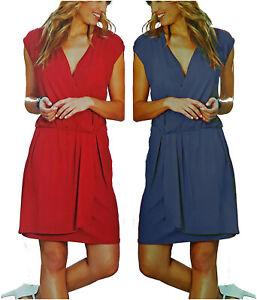 """""""DOPPELPACK 2 Kleider BLAU+ROT"""" Kleid Jersey Stretch Gr.44/46 Neu 906659"""