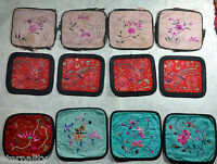 12 PCS ANTIQUE CHINESE CHINA QING EMBROIDERY BADGE TEXTILE SILK 19TH C