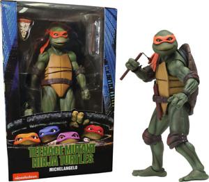 Michelangelo Teenage Mutant Ninja Turtles 1990 Movie TMNT 18cm Action Figur NECA