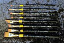 Daler Rowney System 3 Acrylic artists brushes Short handled bundle x 8 brushes.
