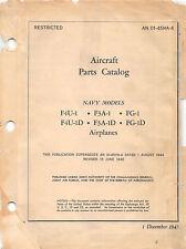 F4U-1 Corsair Aircraft Parts Catalog World War II Book Flight Manual -CD version