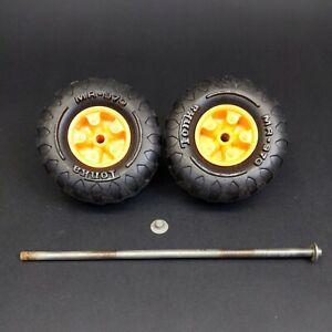 Vintage Tonka Jeep Orange Dune Buggy Axle Assembly Tires Wheels MR-970