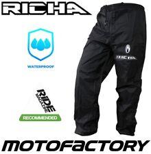 RICHA RAIN WARRIOR MOTORCYCLE WATERPROOF OVER TROUSERS PANTS MOTORBIKE BLACK