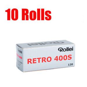 10 Rolls Rollei Retro400s 120 Midlle Format  Black&White Film Fresh 11/2023
