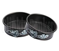 2 MINI SMALL SPRING FORM BAKING TIN LOOSE BASE BOTTOM 12CM CAKE ROUND DISH 8A