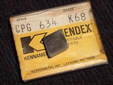 5 Pack Kennametal Kendex Carbide Insert CPG 634 K68