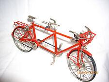 Miniatur Tandem Fahrrad Modell Deko Metall Bike Spielzeug Hochzeit Vintagé