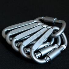 6pcs/set Carabiner Clip Key Ring Holder Outdoor Cable Hiking Hook Lock Camping