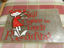 Skill Games to Teach Reading by Richard Bloomer retro teacher copyright 1961