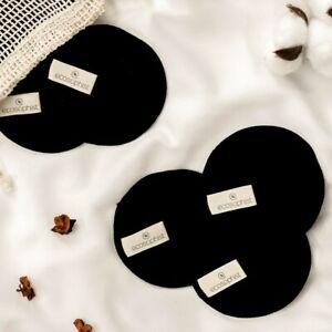 Reusable Black Bamboo Cotton Makeup Remover Pads for Sensitive Skin