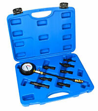 8pc Compression Test Kit Automotive Mechanic Garage Tool 0-290psi Adapters New