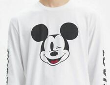 Levi's x Men's Disney Mickey Mouse Long Sleeve Graphic Tee Shirt Jersey Size L