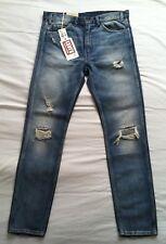 NWTG LEVIS LVC VINTAGE CLOTHING1969 ONRANGE TAB BIG E 606 MENS SLIM JEAN SZ33x32