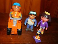 Diego Animal Rescuer Go Diego GO Figure Toys Lot & Vehicle + Dora Explorer