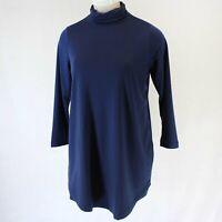 Madewell Women's Plus Size Navy Turtle Neck Pockets Tunic Dress 2X