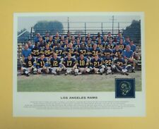 1962 VINTAGE TANG Football 8x10 Los Angeles RAMS Team Photo Poster - NOT reprint
