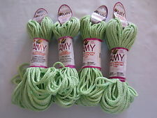 Lot of 4 rolls of 2mm Meadow Amy Braided Nylon Macrame Craft Jewelry Cord 100yds