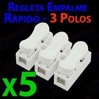 Regleta Empalme Rapido 3 polos 5A 250v - Lote 5 unidades - Arduino Electronica D