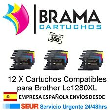 12 x compatibles Brother Non Oem LC1280XL MFC-J6510DW MFC-J5910DW MFC-J6710