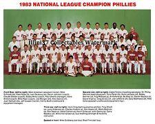 1983 PHILADELPHIA PHILLIES NATIONAL LEAGUE CHAMPS 8X10 TEAM PHOTO PICTURE